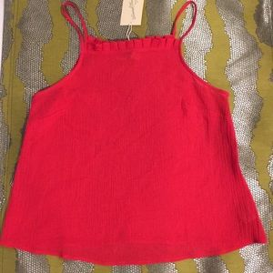 🍒Adorable red top!